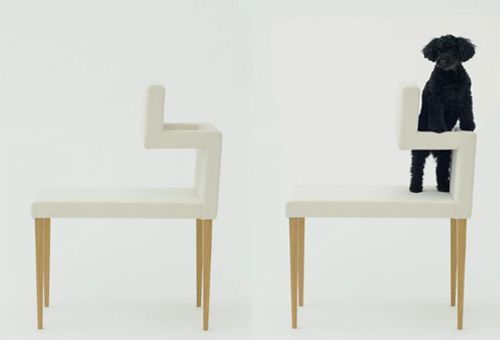 Open chair 004, for Architecture for dogs, by Kenya Hara